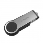Ourspop U336 128GB Swive Оберните USB 2.0 Flash Drive - черный + серебро (128 ГБ)