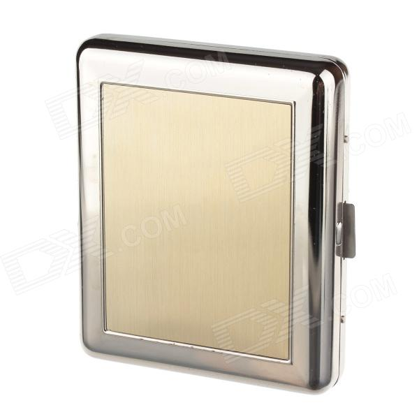 Aluminium Alloy Clamshell Double-Sided Cigarette Case - Sliver + Glod