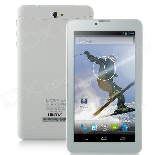 IaITV M360 Dual Core Android 4.2.2 Tablet PC w / 512MB RAM / 4GB ROM / Bluetooth - valkoinen