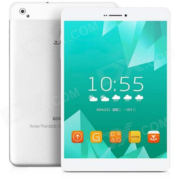 Teclast G18d 7.9 Android 4.2.2 Quad Core WCDMA Tablet PC w/ 1GB RAM, 8GB ROM, Wi-Fi, GPS - Silver sosoon x88 quad core 8 ips android 4 4 tablet pc w 1gb ram 8gb rom hdmi gps bluetooth white