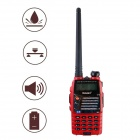 Baiston BST-558UV 1.6'' Waterproof Dual-Band Dual-Display Dual-Standby Walkie Talkie - Red