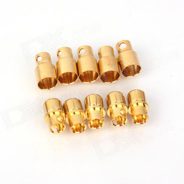 ZnDiy-BRY Bna-080 Gold Plated Banana Plug Jack Connector Set - Golden (8.0mm / 5 Pairs) zndiy bry gold plated banana plug jack connector set golden 6 0mm 5 pairs