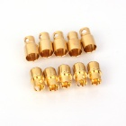 ZnDiy-BRY Bna-080 Vergoldete Bananenstecker Jack Steckersatz - Golden (8,0 mm / 5 Paare)