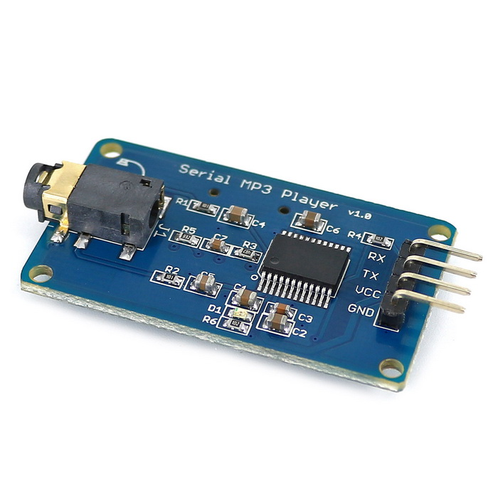 Uart control serial mp music player module for arduino
