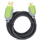 USB 3.0 Male to Micro USB 9-Pin Male Data/Charging Cable for Samsung S5 / Note 3 N9000 (135cm)