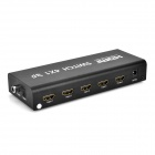 4 x 1 HDMI Switch w/ Coaxial / Toslink / 3.5mm + Remote Control - Black