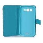 IKKI Elephant Patterned Flip-Open PU Case w/ Stand + Card Slot for Samsung Galaxy GRAND 2 / G7106