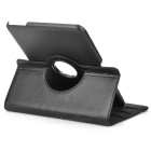 360' Rotary Flip Open PU + ABS Case w/ Stylus for Samsung Galaxy Tab 4 10.1 T530 / T51 / T53 - Black