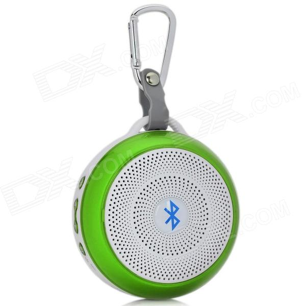Power Blue BL-LY03 Outdoor Bluetooth V4.0 Speaker w/ Mic. / TF / Micro USB / 3.5mm - White + Green acrylic acrylic wood bluetooth v2 0 speaker w 3 5mm usb 2 0 micro usb tf white black