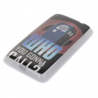 Retro Telephone Booth Pattern Protective TPU Case for Nokia N520 - Black + Grey