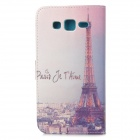 IKKI Eiffel Tower Pattern Flip-Open PU Case w/ Stand + Card Slot for Samsung Galaxy GRAND 2 / G7106