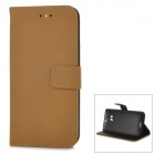 Protective Flip-open PU Leather Case w/ Stand for HTC ONE 2 / M8 - Light Brown