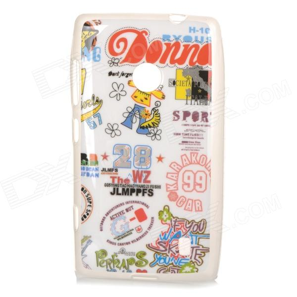 Protective TPU Case for Nokia N520 - White + Red nokia n 95 g8