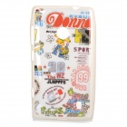 Protective TPU Case for Nokia N520 - White + Red