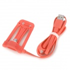 USB 4-Pin to Micro USB 5-Pin Data Sync. / Charging Cable w/ Stand for HTC + More - Pink (120cm)