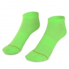 W01 Outdoor Sports Leisure Soft Breathable Deodorant Cotton Socks - Light Green (Free Size /  Pair)