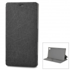 Protective Flip Open PU + PC Case w/ Stand for Sony Xperia Z3 - Black