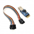 USB to UART Serial Port  CP2102 TTL / 485 / 232 Switch Free Module - Blue + Black