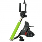 Retractable Selfie Monopod w/ Holders for Samsung / HTC / IPHONE + More - Green