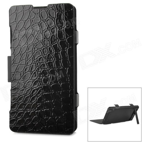 ZAP Protective Flip Open 3500mAh Li-ion Battery Power Case w/ Stand for Sony Xperia Z1 Mini - Black чехол flip case для highscreen power rage evo черный