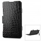 ZAP Protective Flip Open 3500mAh Li-ion Battery Power Case w/ Stand for Sony Xperia Z1 Mini - Black