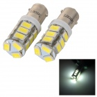 SENCART BA9S 4W 140lm 6500K 5730 SMD LED White Light Car / Motorcycle Lamp (DC 12~16V / 2PCS)