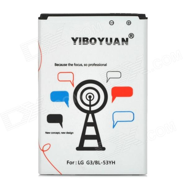 YIBOYUAN BL-53YH Replacement 3000mAh Li-ion Battery for LG G3 adiors straight medium neat bang tail adduction synthetic wig