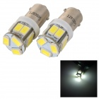 SENCART BA9S 3W 80lm 6500K 5730 SMD LED White Light Car / Motorcycle Lamp (DC 12~16V / 2PCS)