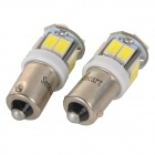SENCART BA9S 3W 80lm 6500K 5730 SMD LED Branco Car Light / Moto lâmpada (DC 12 ~ 16V / 2PCS)