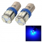 SENCART BA9S 3W 25lm 490nm 5730 SMD LED Blue Light Car / Motorcycle Lamp (DC 12~16V / 2PCS)