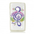 Musical Notes Pattern Protective TPU Case for Nokia N520