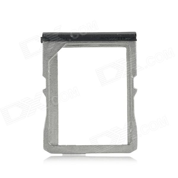 Replacement Micro SIM Card Tray Holder for HTC One M7 - Black + Silver
