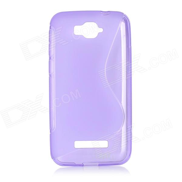 Anti-slip S Pattern Protective TPU Case for Alcatel One Touch Pop C7 - Purple dots pattern flexible tpu case for iphone 7 plus 5 5 inch purple