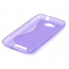 Antideslizante S Patrón TPU caso protector para Alcatel One Touch Pop C7 - Purple