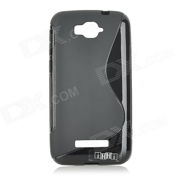 цена на Anti-slip S Pattern Protective TPU Case for Alcatel One Touch Pop C7 - Black
