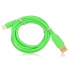 A004 USB Male to Micro USB Male Data Cable for Xiaomi / HTC / Samsung + More - Green (144cm)