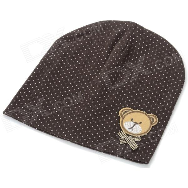Fashionable Soft Cotton Hat for 0~3 Years Old Baby - Deep Brown