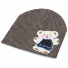 Fashionable Soft Cotton Hat for 0~3 Years Old Baby - Brown + Multi-Color