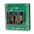 SSOP28 to DIP28 IC Programmer Socket Adapter - Black + Green