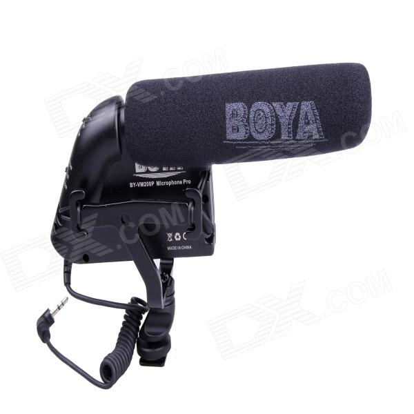 BOYA BY-VM200P Stereo Video Condenser Shotgun Microphone for DSLR & DV Camcorder by pvm1000l condenser microphone xlr 3 pin super cardioid directional for camcorder dslr smartphone video interactive film video
