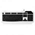 JUEXIE F300 104-Key USB 2.0 Gaming Keyboard - White + Black