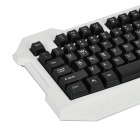 JUEXIE F300 104-Key USB 2.0 Gaming Keyboard - белый + черный