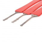 B082 Steel Lock Picking Tool Set - Red + Silver (3 PCS)