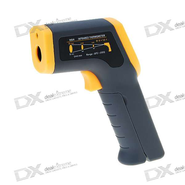Digital InfraRed Thermometer with Laser Sight (-32'C~375'C/26'F~707'F)