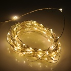 6W 24lm 3500K 100-SMD 0603 LED Warm White Copper Wire Light Strip - Silver + Black (DC 12V / 10M)