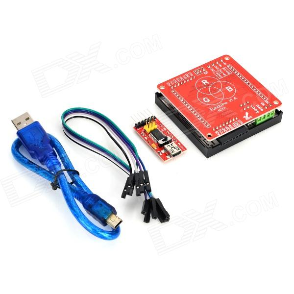 Funduino KT0045 FR4 8 x 8 RGB Drive Board + FTDI Board + 6Pin Dupont Cable Set - Red литой диск replica fr lx 98 8 5x20 5x150 d110 2 et54 gmf