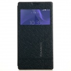 KALAIDENG Protective PU Leather Case Cover Stand for Sony Xperia T3 - Black