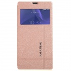 KALAIDENG Protective PU Leather Case Cover Stand for Sony Xperia T3 - Golden