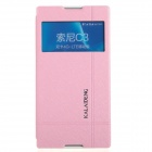 KALAIDENG Protective PU Leather Case Cover Stand for Sony Xperia C3 - Pink