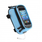 Roswheel Universal Touch Screen Top Tube Saddle Bag w/ Earphone Hole for Cell Phone - Blue (M)